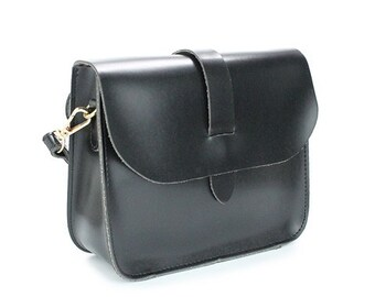 Vegan Leather Mini Messenger Bag