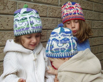 "Baby/child hat (""Merry-Go-Round"") knitting pattern (PDF)"