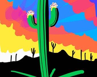 Vibrant Saguaro