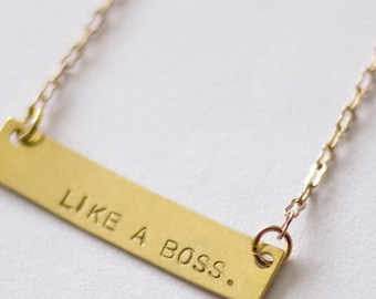 Like a Boss necklace