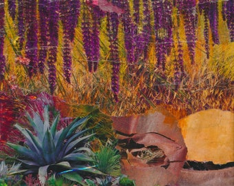 Jungle mixed media collage
