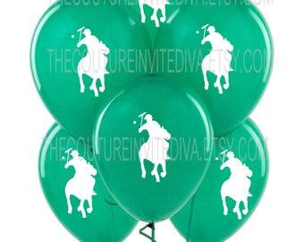 Polo Prince Balloons    Polo Balloons   Polo Player Balloons   Horseman Balloons   Green   Red