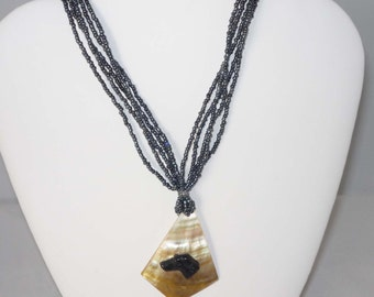 SueBero Greyhound Dog Jewelry Shell Pendant Necklace Whippet IG
