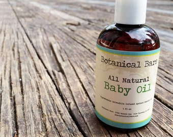 All Natural Baby Oil - 4oz Bottle - Baby Massage Oil - Baby Bath Oil