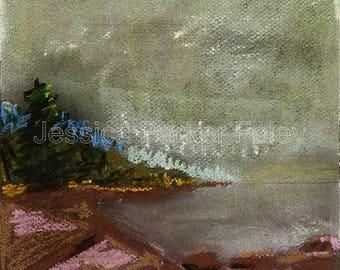 Pastel Giclée Print - Monhegan Island Coastal Maine
