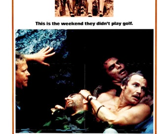 Deliverance 1972 Burt Reynolds Jon Voight cult movie poster reprint 19x12.5 inches