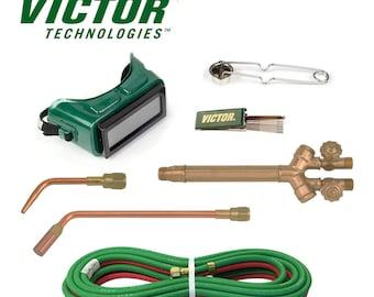 Victor Torch Kit Cutting 100FC, 4-MFA-1, 0-W-1, 3/16 Hose Goggles Striker