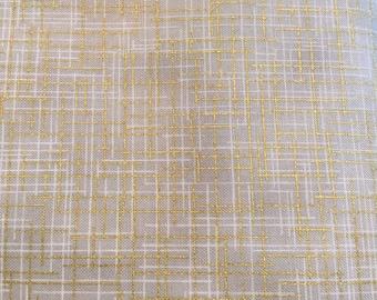 Quilter's Linen Stone Metallic from Robert Kaufman