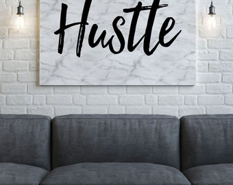 Hustle Canvas Art - Marble Canvas - Abstract Canvas- Marble Art - Gallery Wrapped Canvas - Birthday Gift -  Vintage Canvas - Home Decor