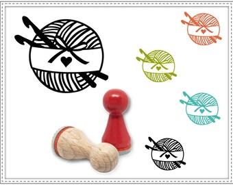 Rubber stamp CROCHET YARN Ø 15 mm