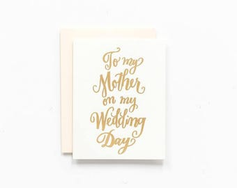 SALE! - To My Mother on my Wedding Day ~ Greeting Card