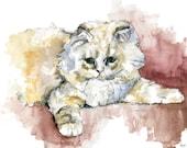 Kitten Painting - Print f...