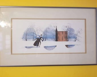 P.BUCKLEY MOSS Collectors 1979 signed dated lithograph limited edition.