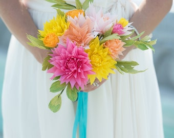 Paper wedding florals