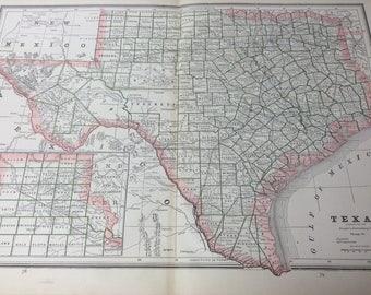 Vintage dallas map Etsy