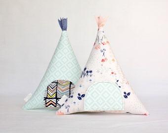 Tooth Fairy Teepee Pillow Toy, Decorative Pillow, Kids, Gift For Children, Stuffed Toy, Keepsake, Tipi, Girls, Boys, Boho, Modern