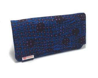 Purple and blue wallet. Women's wallet. Card wallets for women. Zipper wallet. Fabric wallet. Vegan wallet. Gift for her.