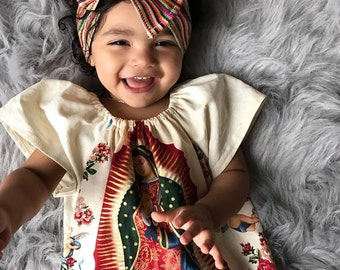 Virgin Mary Dress, Virgen De Guadalupe dress, Virgin Mary toddler dress, Virgin Mary Baby Dress, Virgen De Guadalupe Baby toddler dress