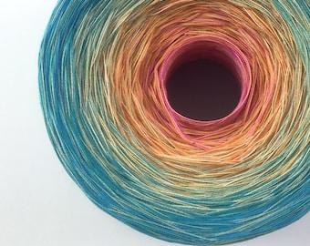 Colour Change Gradient Yarn - amaris -  Moca Cotton Yarn - 10 colours - fingering yarn - cotton