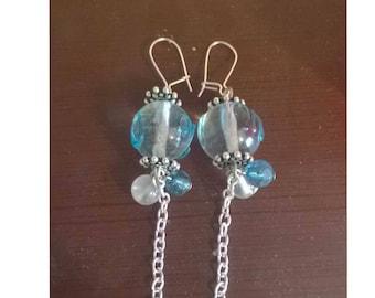 Blue Skies Chinese Lantern Earrings