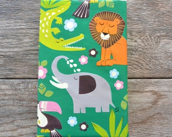 Jungle Wrapping Paper, 20 Square Feet - Lion Gift Wrap - Elephant Wrapping Paper - Crocodile Paper - Toucan Gift Wrap - Safari Animal