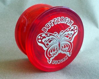 Genuine 1980's Red Duncan Butterfly Yo-Yo 3058NP NEVER USED
