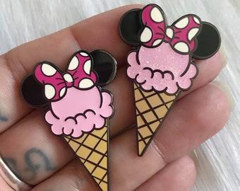 MinnieCone - Pink - Enamel Pin
