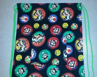 Super Mario Brother Drawstring Backpack