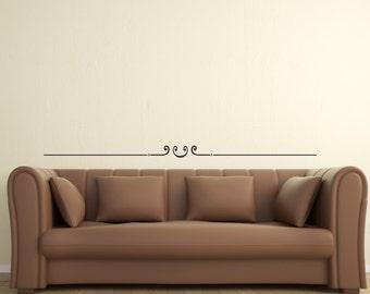 Scroll Embellishment 6 ... Vinyl Wall Decal Sharp Art Deco