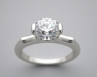 Gold Engagement Ring Setting Solitaire Design or Custom Design