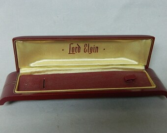 Vintage Lord Elgin Wrist Watch Storage Case_*Watch is NOT included