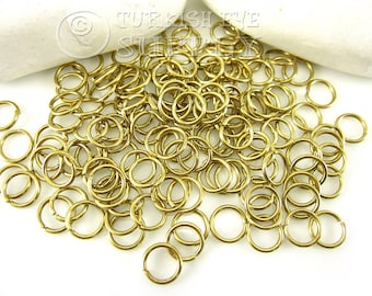 100 Raw Brass 10x1.20mm Jump Rings, JumpRing Connector, Brass Jumpring, Open Jump Rings, Raw Brass Findings