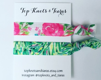 Floral Elastic Hair Ties / Set of 2