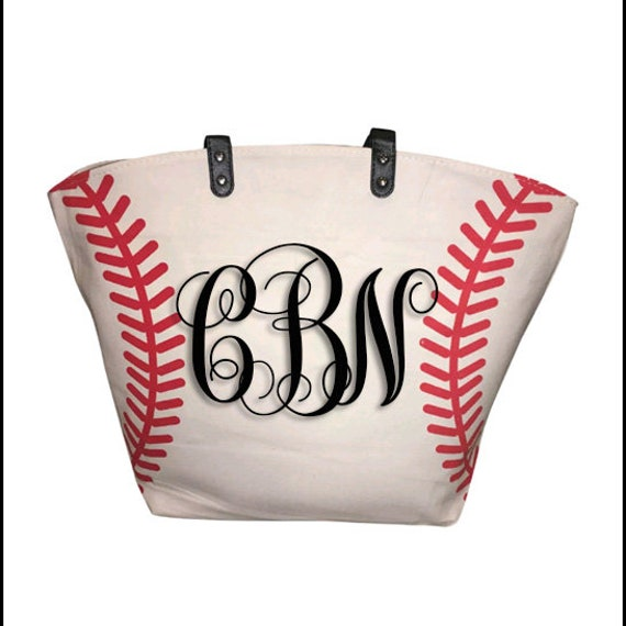 Personalized Monogram Jersey Name Number Canvas Baseball Bag