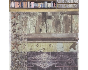 7Gypsies Architextures JUNQUE PACK - CABIN Mixed Media Textures 15 Pc #7g25030