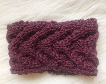 Staghorn Cable Knit Headband // Customize 6 Colors Available