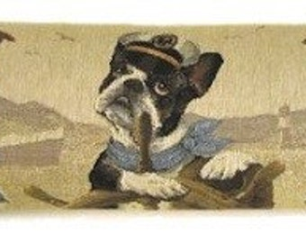 french bulldog draft stopper- jack russell draugt excluder - weimaraner daught stopper - dog lover gift - nautical gift - BOL-5235