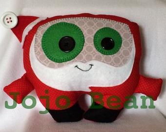 Holiday Santa cuddle monster