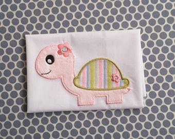 Applique Machine Embroidery Design Baby Girl Turtle