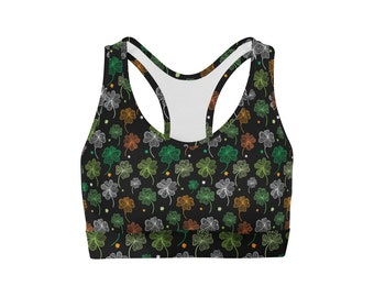 Colored Clovers Sports Bra