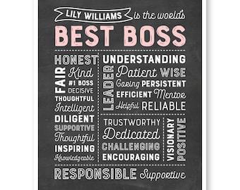 World's Best Boss, Gift For Boss, Boss Gift, Best Boss Ever, Coworker Gift, Boss Appreciation, Unique Boss Gift, Boss Christmas