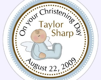 Custom Baptism or Christening Labels, Baptism Stickers - Personalized for YOU