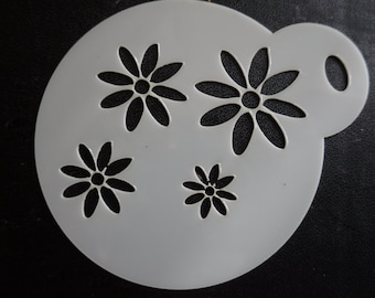 Unique bespoke new laser cut daisy pattern cookie / face painting stencil