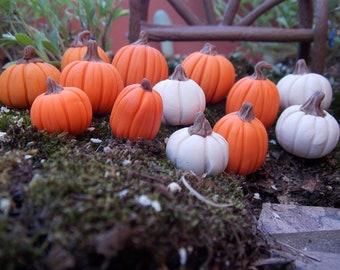 15 Fall Halloween Autumn  miniatures for fairy gardens planter picks terrarium pumpkins Halloween village accessories