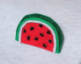 Felt Watermelon Hair Clip/Pin or Headband