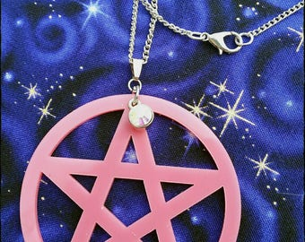 Pentacle Statement Necklace : witch, witchcraft, wicca, wiccan, pagan, pentagram, occult, amulet, talisman, goth