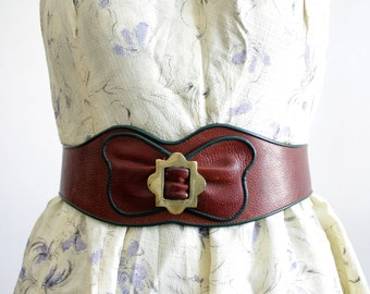 Vintage herzklopfen / palpitation wide brown Belt
