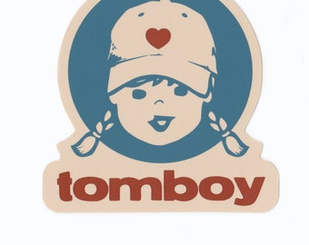 Tomboy Girl Die Cut Stickers Window Decal Skateboard Stickers Surf Stickers Car Decal Car Stickers