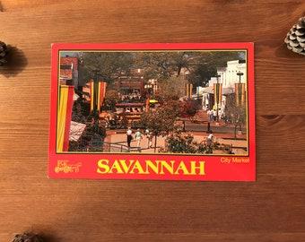 Savannah City Market - Georgia Vintage Postcard 1990s
