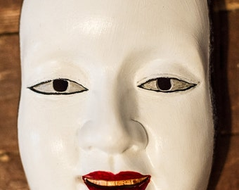 inspired Traditional Japanese Noh Female Mask